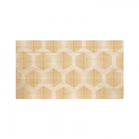 Tête de lit en bois naturel boussole