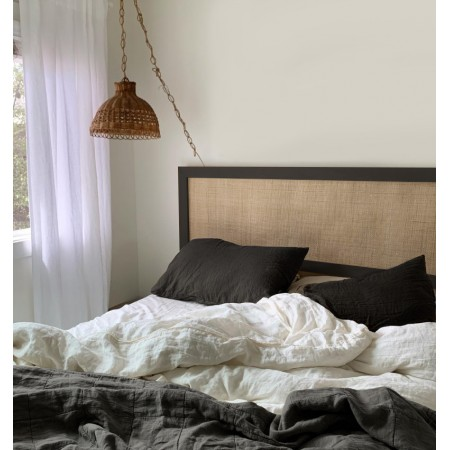 Tête de lit Ellen raphia noir
