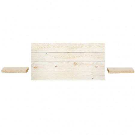 Pack tête de lit horizontale et tables de chevet Hak naturelle