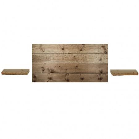 Pack tête de lit horizontale et tables de chevet Hak  vieilli