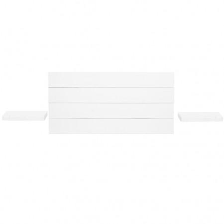 Pack tête de lit horizontale et tables de chevet Hak blanche