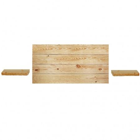 Pack tête de lit horizontale et tables de chevet Hak Olive
