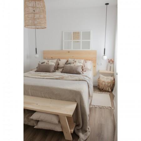 Tête de lit en horizontale droite bois naturel