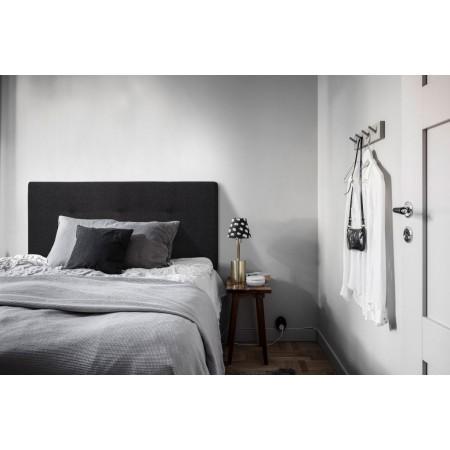 Tête de lit polyester boutons noir