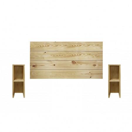 Pack tête de lit et tables horizontales Lina olive