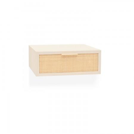 Table de chevet caisse verticale avec étagère naturelle