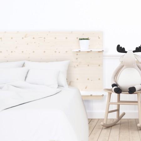 Tête de lit individuelle en bois panneau d'accessoires