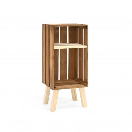Table de chevet Box verticale vieillie