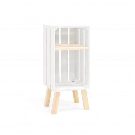 Table de chevet Box verticale blanche