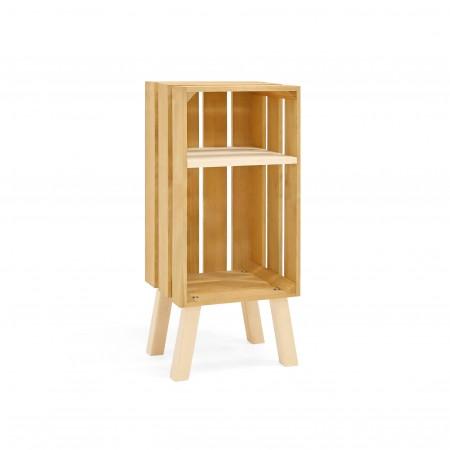 Table de chevet Box verticale olive
