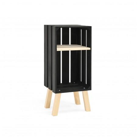 Table de chevet Box verticale noir
