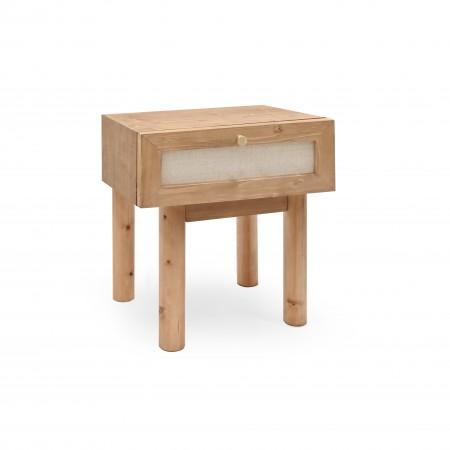 Table de chevet Linen vieillie