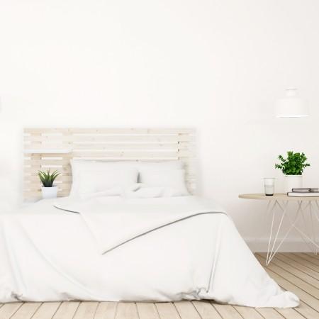 Tête de lit individuelle en bois lattes