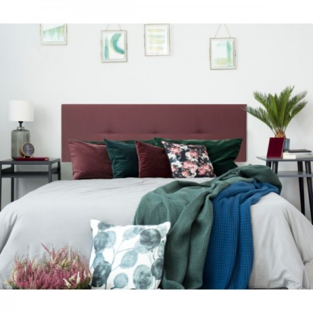 Tête de lit tapissée Mimuk boutons tuile de toit