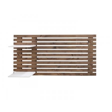 Tête de lit individuelle en vieux bois lattes
