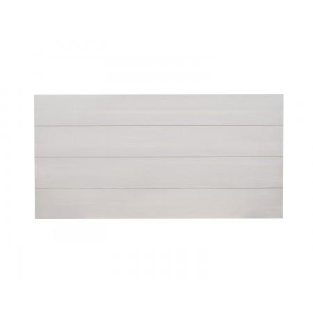 Tête de lit en bois décapé gris clair