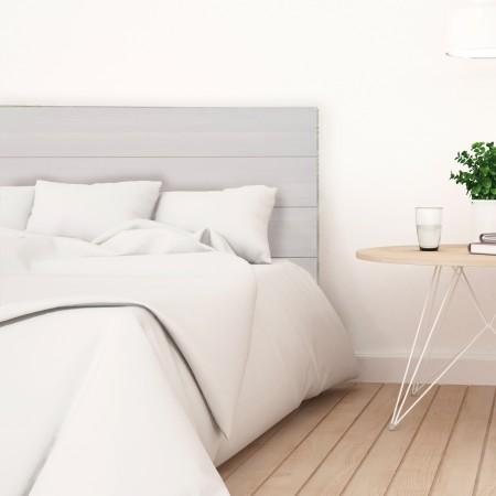 Tête de lit en bois décapé gris