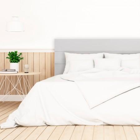 Tête de lit en bois gris clair
