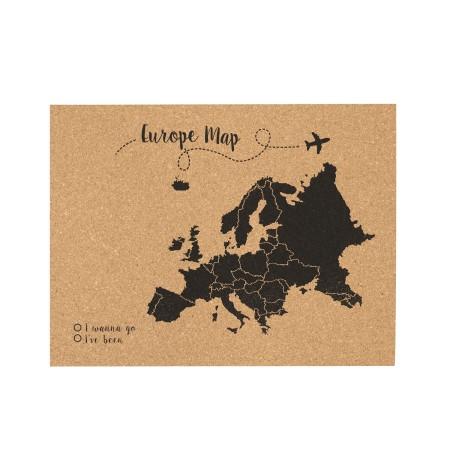 Corcho mapa de europa negro