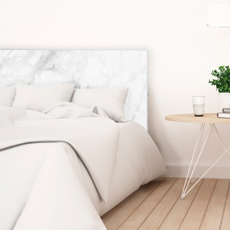 Tête de lit blanche marbre