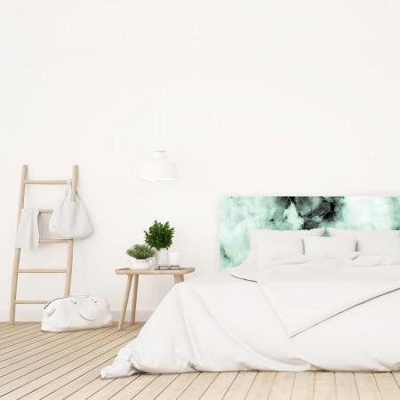 Tête de lit verte marbre