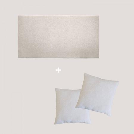 Pack tapizado liso beige