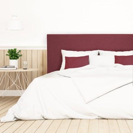 Pack tête de lit tapissée lisse grenat