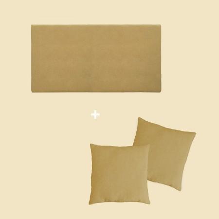 Pack tapizado liso mostaza