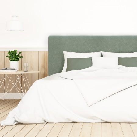 Pack tête de lit tapissée lisse vert