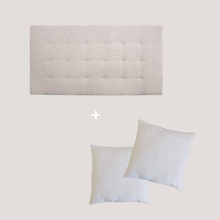 Pack tapizado pliegues beige