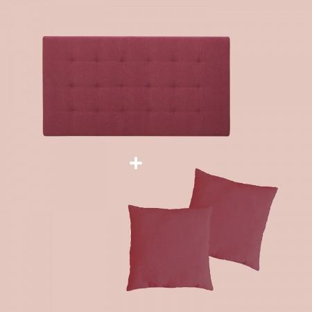 Pack tapissée plis grenat