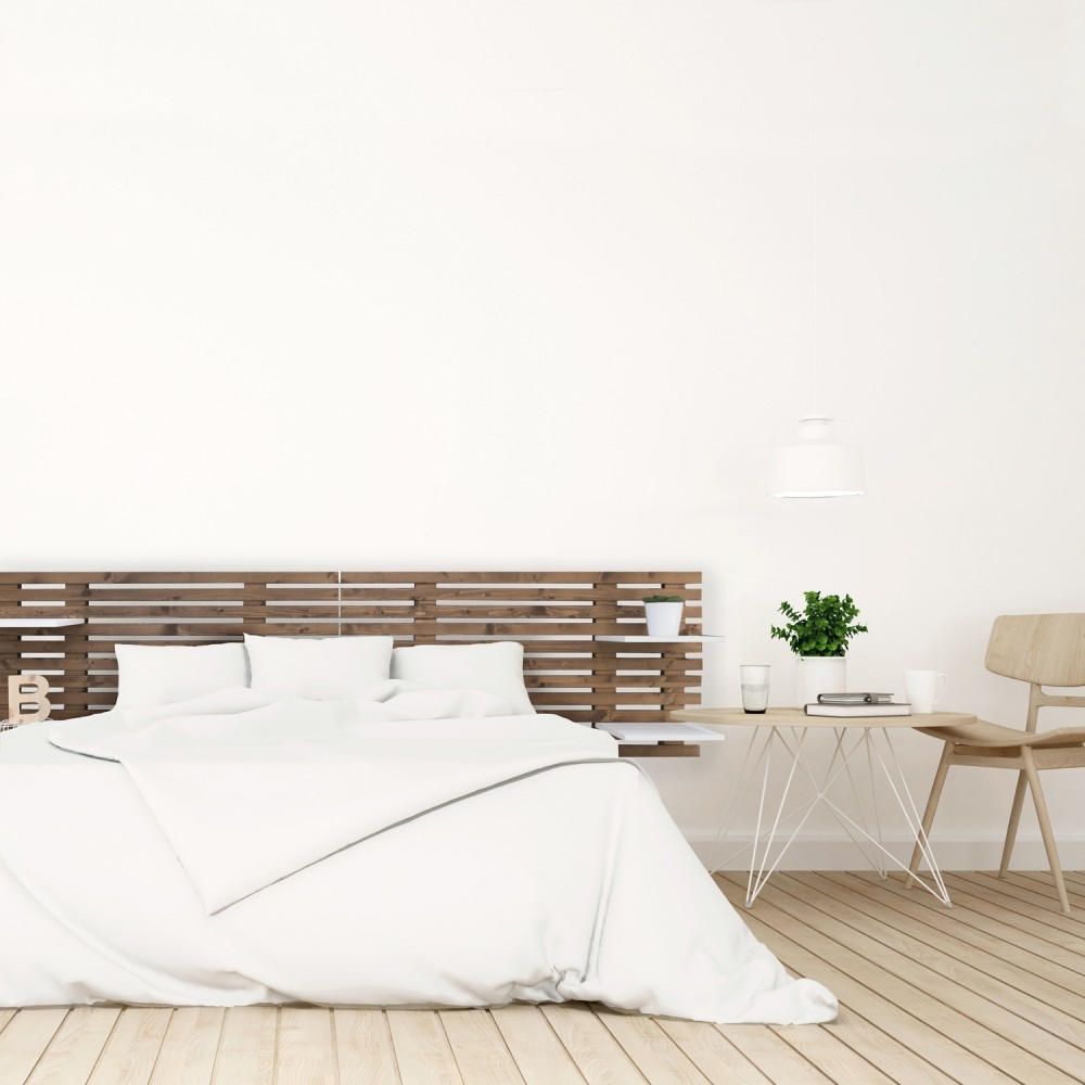 t te de lit nordique en bois effet vieilli ikea vente de. Black Bedroom Furniture Sets. Home Design Ideas