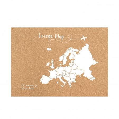 Liège carte d'Europe blanche