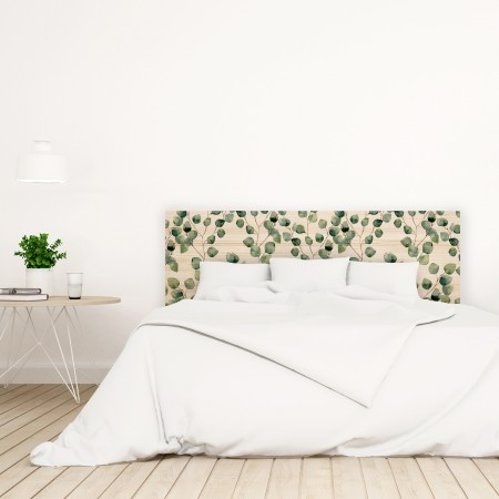 Tête de lit naturel 'Petites feuilles'