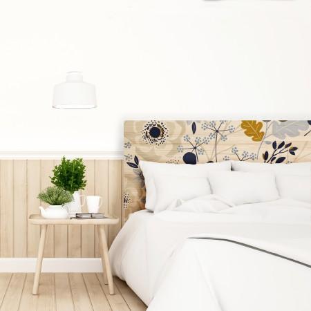 Tête de lit naturel 'Motifs d'automne'