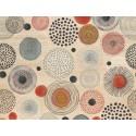 Cabecero natural 'Círculos abstractos multicolor'