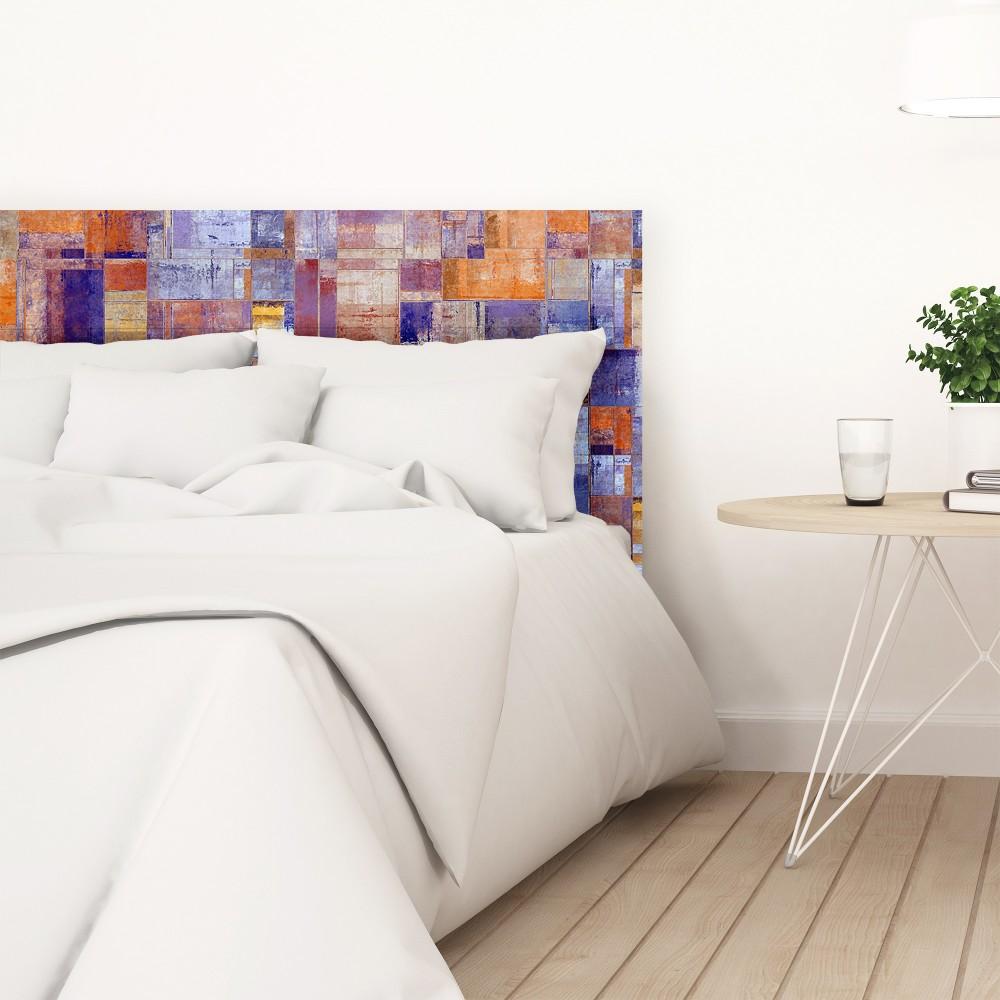 Tête de lit décapée peinture abstraite  Vente de toutes ...