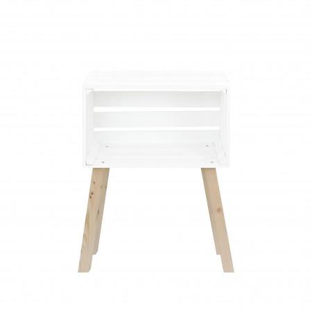 Petite table caisse horizontale décapée