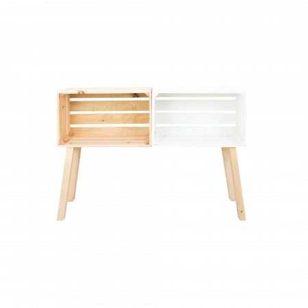 Commode Naturel / blanc