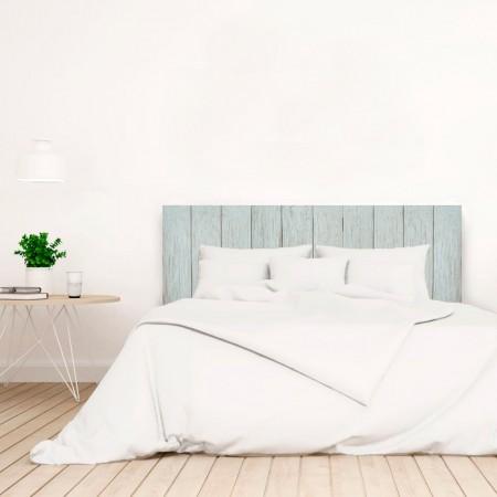 Tête de lit bois vintage bleu vert