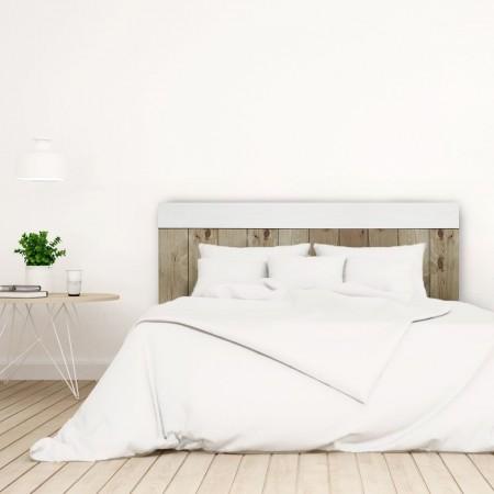 Tête de lit Crooked Forest vieilli et blanc