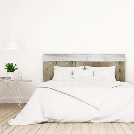 Tête de lit Crooked Forest Vieilli et Blanc vintage