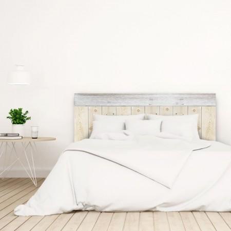 Tête de lit Crooked Forest Naturelle et Blanc vintage