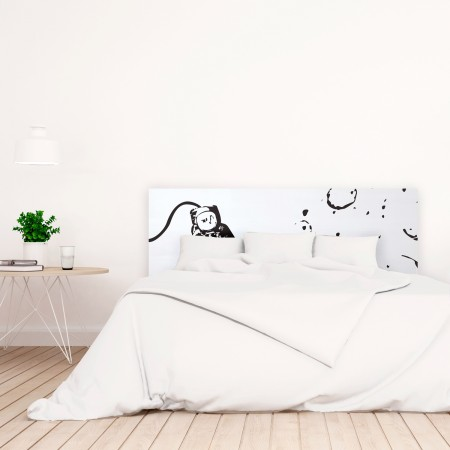 t te de lit blanche avec astronaute imprim vente de toutes sortes de t tes de lit online. Black Bedroom Furniture Sets. Home Design Ideas
