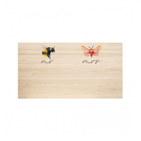Tête de lit en bois naturel Bee & Butterfly