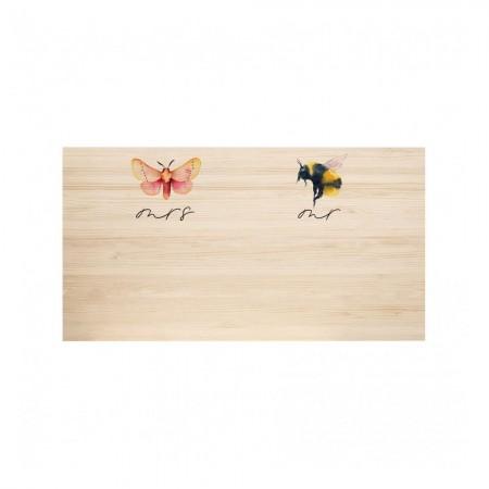 Tête de lit en bois naturel Butterfly & Bee