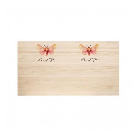 Tête de lit en bois naturel Butterfly & Butterfly