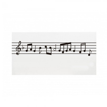 Cabecero blanco estampado partitura musical
