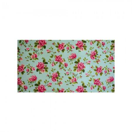 Tête de lit blanche roses