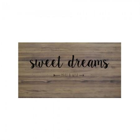 Tête de lit effet vieilli sweet dreams